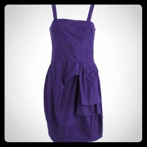 Dark purple Marc by Marc Jacobs  pleated dress